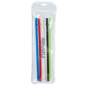 Ozone 9� Reusable Straws With Brush